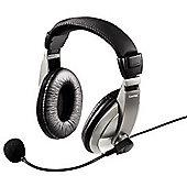 Hama AH-100 Binaural Head-band Black Silver headset