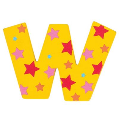 Bigjigs Toys Star Letter W (Yellow)