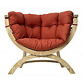Amazonas Siena Uno Wooden Garden Chair in Terracotta