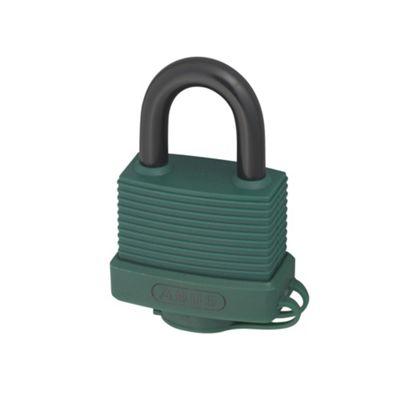 70AL/45 45mm Aluminium Padlock Green Keyed 6401