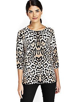 Wallis Petite Leopard Print Jumper - Multi