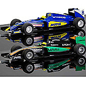 SCALEXTRIC Slot Cars C3669 C3704 GP Racers - Black and Blue
