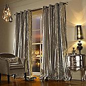"Kylie Minogue 'Illiana' Praline Velvet Lined Eyelet Curtains, 90x90"""