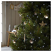 100 Battery Operated LED Christmas Lights with Timer, Bright White