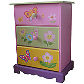 Liberty House Butterfly Garden 3 Drawer Storage
