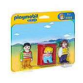 Playmobil 1.2.3 Parents with Baby Cradle 6966