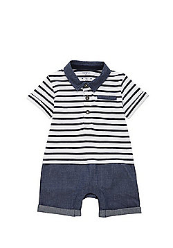 F&F Signature 2 in 1 Romper - Blue
