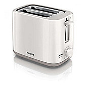 Philips HD2595-01 800w Compact 2 Slice Toaster with Wide Slots in White