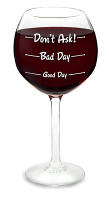 How Was Your Day Wine Glass