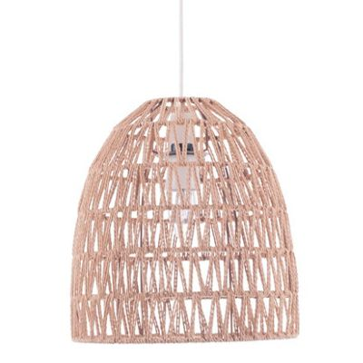 Natural Dome Paper Rope Pendant Light Easy Fit Ceiling Light Decor