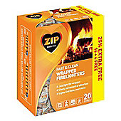 Zip Fast & Clean Wrapped Firelighters - Pack 16 Plus 25% Free