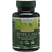 Natures Aid Organic Spirulina 500mg - 90 Capsules
