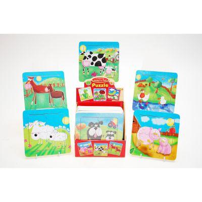 Traditional Wood 'n' Fun Farm Puzzle - Dog - Ackerman Toys 3yr+