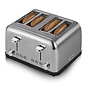 Tower T20003 4 Slice Toaster - Stainless Steel