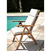 Reclining Chair Garden Cushion Natural