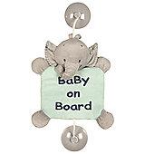 Nattou Baby on Board Sign - Jack the Elephant