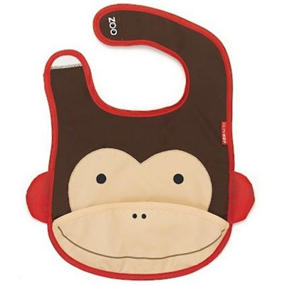 Skip Hop Zoo Tuck Away Bib Monkey