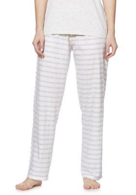 F&F Striped Lounge Pants Multi White 12-14