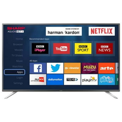 sharp 40 inch tv. sharp 40 inch lc-40cfg6021k smart full hd led tv with freeview tv