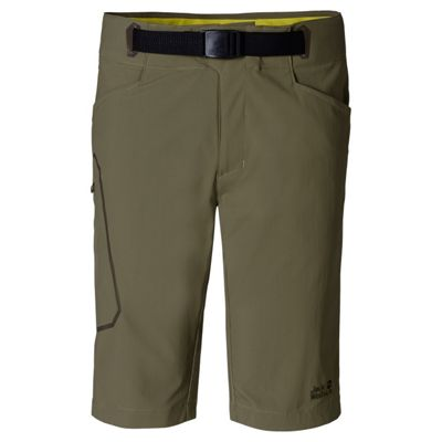 Jack Wolfskin Mens Rock Shorts Burnt Olive 38