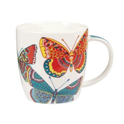 Churchill China Queens Paradise Icons Squash Mug Cup Couture Butterflies 390ml