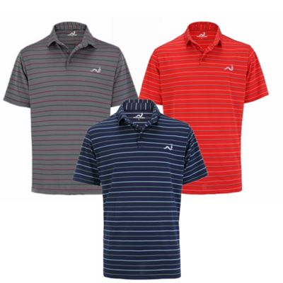 Woodworm Golf Clothes Select Stripe Mens Polo Shirts - 3 Pack L