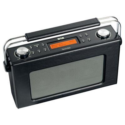Technika DAB 211L Retro Leather Radio Black
