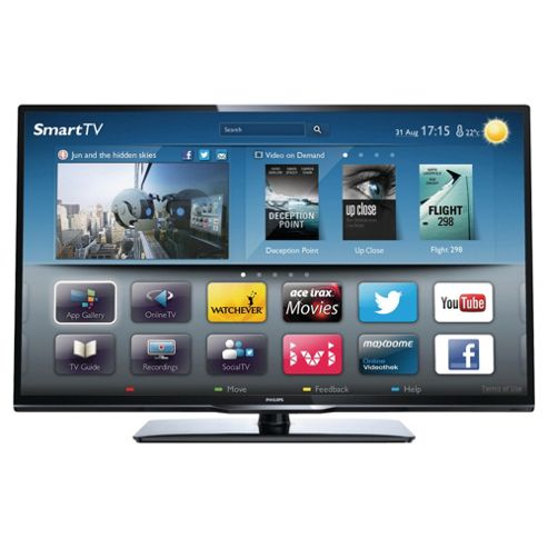 Philips 46PFL3208T 46 Inch Smart WiFi Ready Full HD 1080p LED TV With Freeview HD