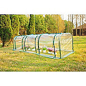 Outsunny Large PVC Greenhouse Steel Frame 300x100x80cm