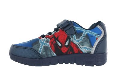 Boys Spiderman Blue Trainers Sports Shoes Hook and Loop UK Child Size 1