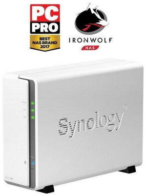 Synology DiskStation DS115j/1TB-IronWolf 1-Bay 1TB (1x1TB Seagate IronWolf) Desktop Network Attached Storage