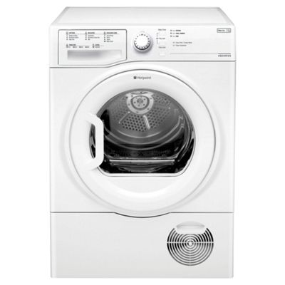 Hotpoint TCFS83BGP Condenser Tumble Dryer, 8Kg Load, B Energy Rating, White