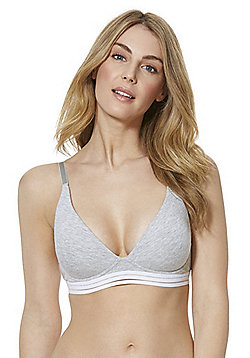 F&F Padded Crop Top - Grey
