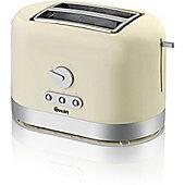 Swan T10020CREN 2 Slice Toaster - Cream