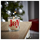 Tesco Christmas Filled Candle Jar Joy