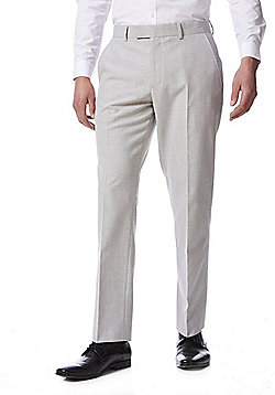 F&F Regular Fit Suit Trousers - Light Grey