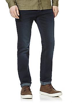 F&F Knitted Look Stretch Slim Leg Jeans - Indigo