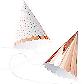 Pick & Mix Rose Gold Foil Party Hats