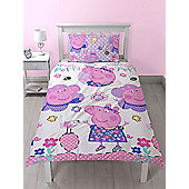 Peppa Pig Happy Single Duvet Cover Set - Rotary Design