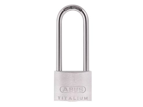 ABUS Mechanical 64TI/40HB63 Titalium Padlock 40mm x 63mm Long Shackle Carded