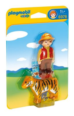 Playmobil 1.2.3 Gamekeeper with Tiger 6976