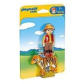 Playmobil 1.2.3 Gamekeeper with Tiger 6976