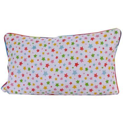 Homescapes Cotton Multi Colour Stars Cushion Cover, 30 x 50 cm