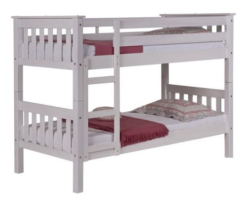 Short Barcelona Bunk Bed in Whitewash - Single
