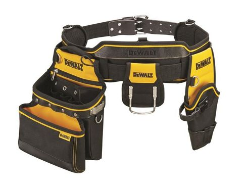 Dewalt DWST1-75552 Heavy Duty Tool Rig Toolbelt - Includes Hammer Holder, Multi Purpose Pouch and Drill Holster