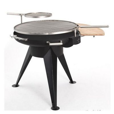 Huge Charcoal BBQ Grill - Cranford 1099 With Swivel and Height adjustable Stainless Steel Grill