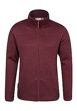 Mountain Warehouse Idris Mens Full Zip Fleece - Red