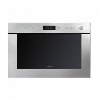 Whirlpool AMW498IX | 22L Compact Built-in Microwave & Quartz Grill in Stainless Steel