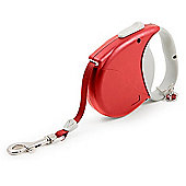 Ancol Small Bite Crown Jewel Retractable Lead - Ruby