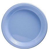 Baby Blue Plates - 26cm Plastic Party Plates - 50 Pack